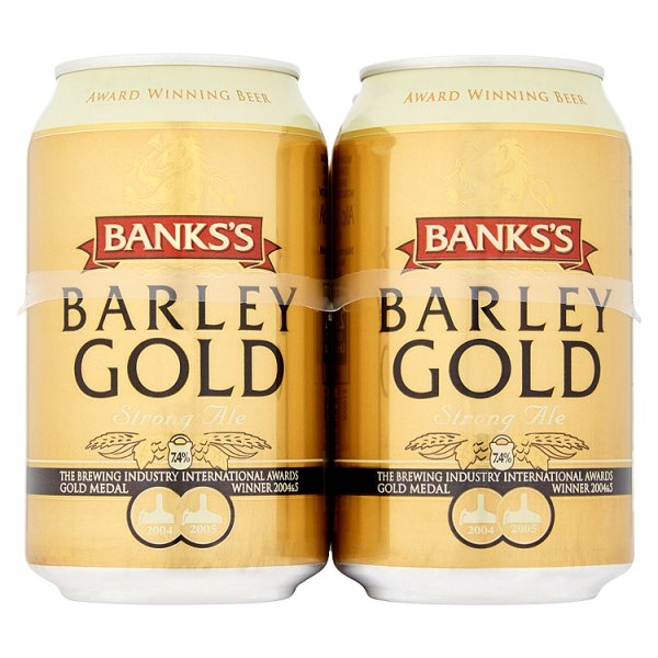 BANKS'S BARLEY GOLD 4PK 7.4%