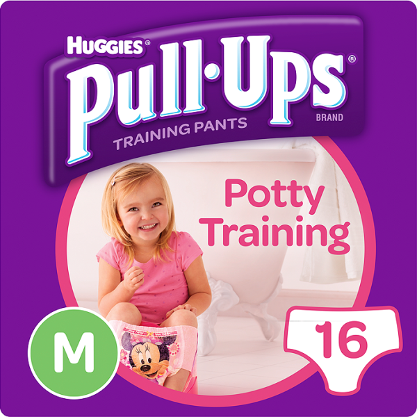 HUGGIES PULL UPS MED GIRL