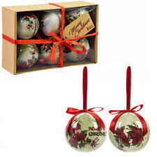 POLYFOAM BAUBLES CRAFT BOX POINSETTIA PS*