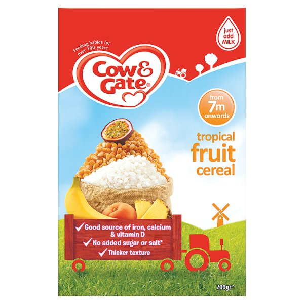 COW&GATE SUNNY START TROPICAL CEREAL 7M