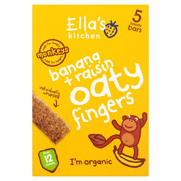 ELLASKIT NIBBLY FINGERS BANANA & RAISIN