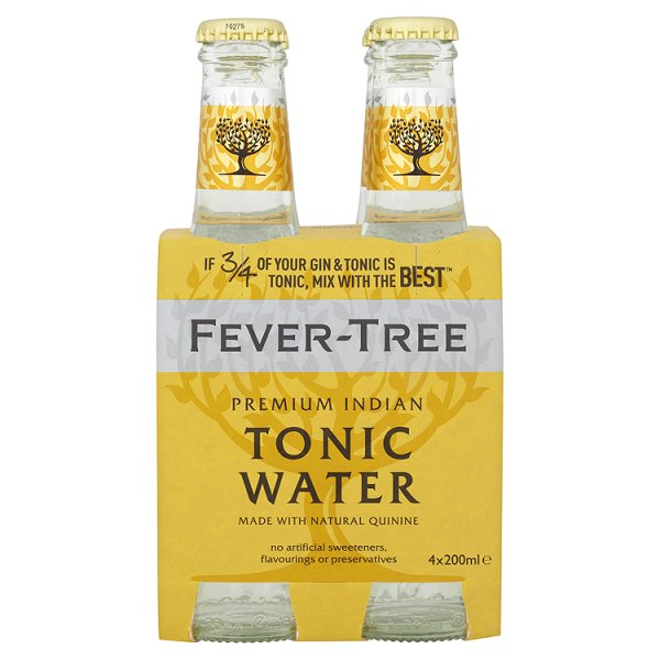FEVER-TREE INDIAN TONIC WATER 4PK