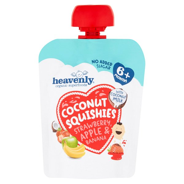 HEAVENLY ORGANIC COCONUT SQUISH STRAW/BANANA/APPLE