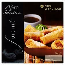 SPICED DUCK SPRING ROLLS