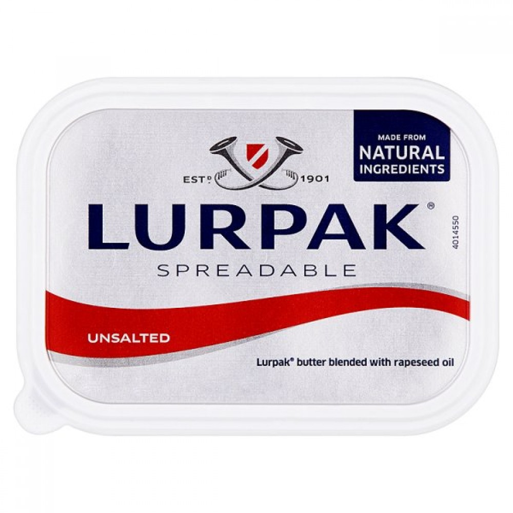 LURPAK UNSALTED SPREADABLE BUTTER