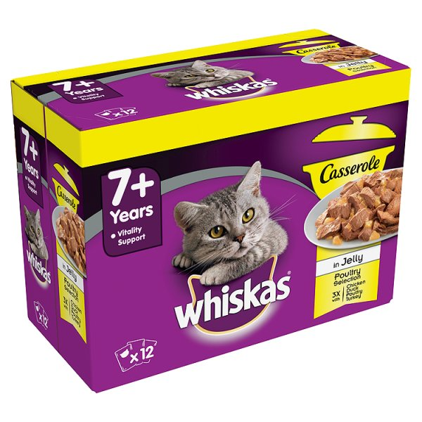 WHISKAS POUCH CASSEROLE 7+ 583 IN JELLY PMP ï¾£3.99