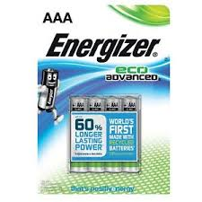 ENERGIZR ECO ADVANCED AAA CLIPSTRIP 4PK