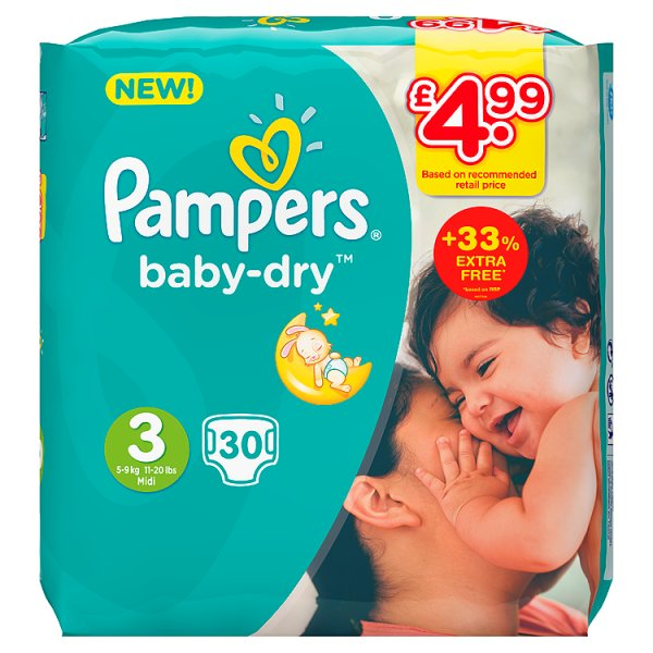 PAMPERS BABYDRY SZ3 PM4.99