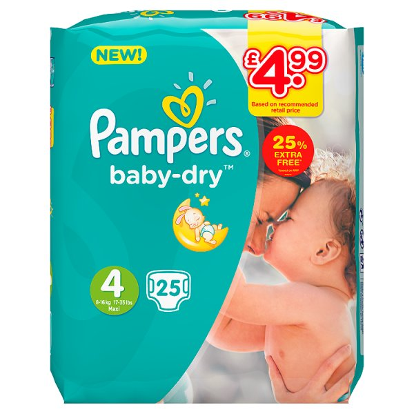 PAMPERS BABYDRY SZ4 PM4.99