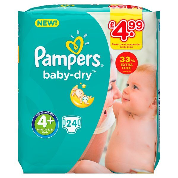 PAMPERS BABYDRY SZ4+ PM4.99