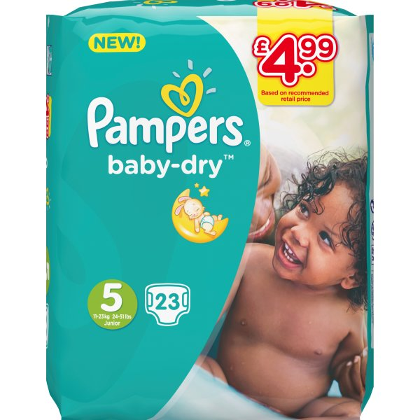 PAMPERS BABYDRY SZ5 PM4.99