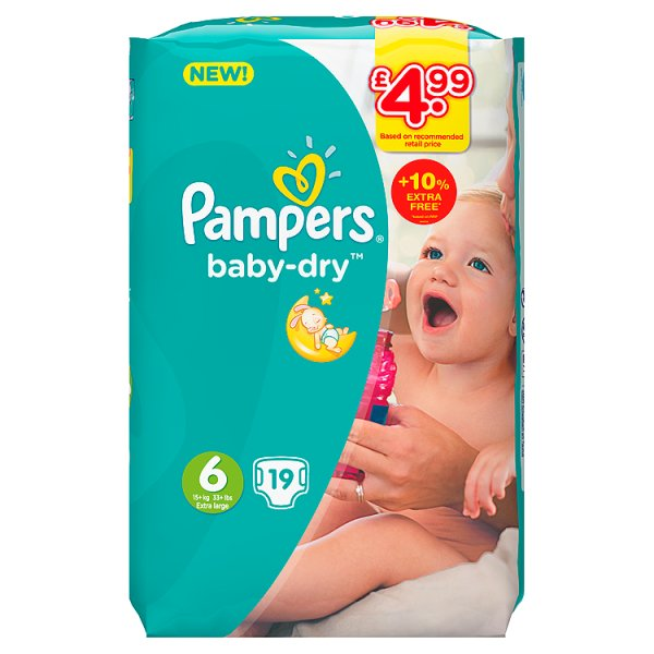 PAMPERS BABYDRY SZ6 PM4.99