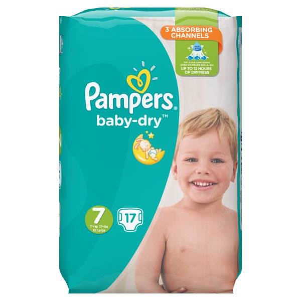 PAMPERS SIZE 7 CARRY PACK