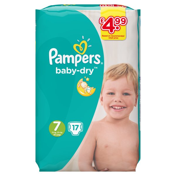 PAMPERS SIZE 7 CARRY PACK PM ᆪ4.99