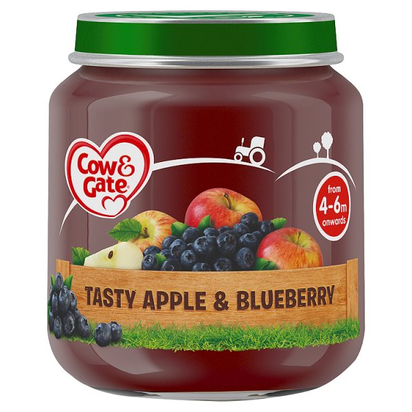 COW&GATE TASTY APPLE+BLUEBERRY 4M