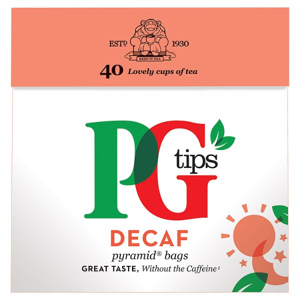PG TIPS TEABAGS DECAFF