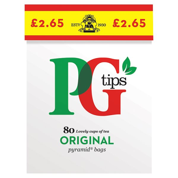 PG TIPS TEABAGS(232G)PMï¾£2.65