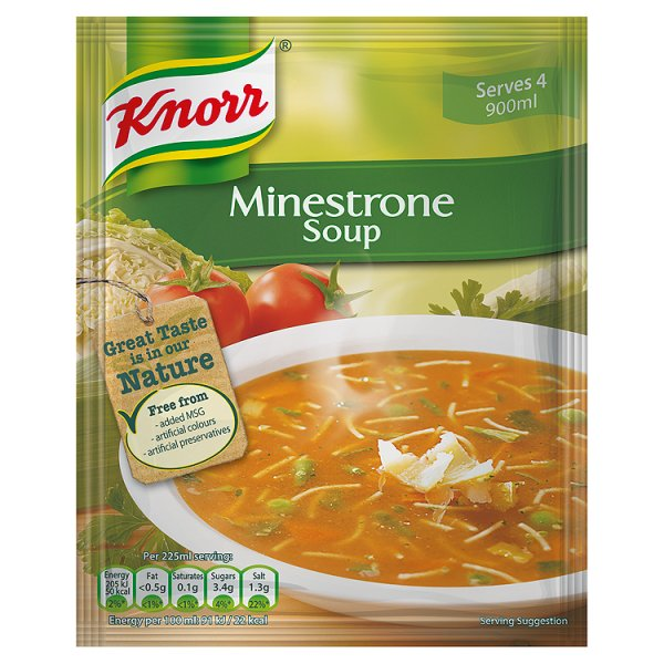 KNORR MINESTRONE PKT SOUP