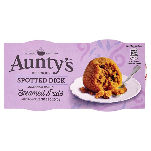 AUNTYS SPOTTED DICK PUDDING