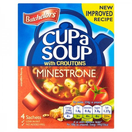 BATCHELORS CUP A SOUP GRANULES MINESTRONE